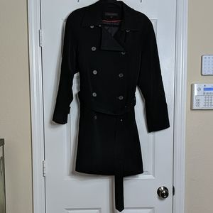 Anne Klein Double Breasted Belted Peacoat